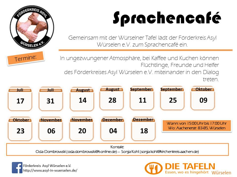 Sprachencafé Flyer 14 07 2016